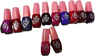 Renuka Store Quick Dry One Stroke Color Nail Paint Combo Offer Set of 12 in Rate 6 ml Each(Violet, Brown, Nude, Light Grey...