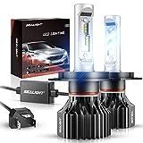 SEALIGHT H4/9003/HB2 LED Headlight Bulbs, X1 Series Dual High/Low Beam Xenon White 6000K