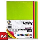 Premier Artículos de papelería A4, 160g/m²–Tarjeta de actividad fluorescente (Pack de 40hojas)