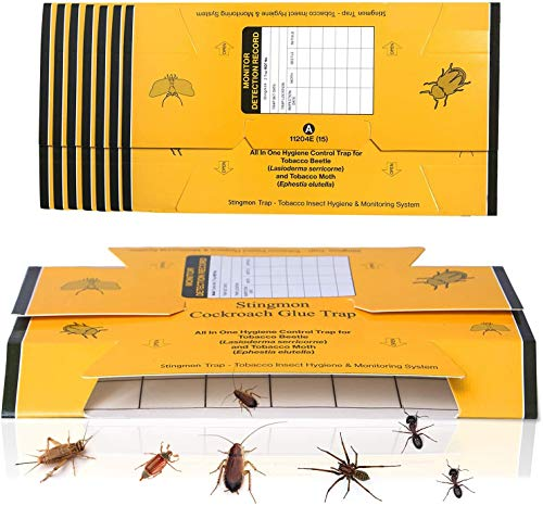 24 Pack Roach Killer Roach Bait Traps Cockroach Killer Indoor Home Glue Traps for Crickets Roaches Bugs Spiders Beetles