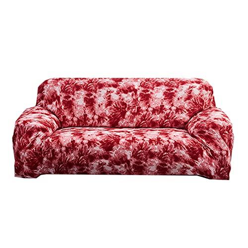 FKRAINSAN Gekritzel All Inclusive Stretch Sofa Cover, Staubschutz Nichtrutsche Four Seasons Universal Sofa Protector, abnehmbar waschbar,Graffiti red,90/140cm