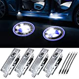 Car Door Logo Light Projector Ghost Shadow welcome Lights ForBMW Ghost Shadow Light Compatible with Accessories X1 X3 X4 3 5 6 7 Z X GT Series 4 pack…
