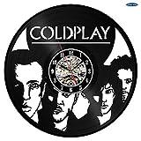 xcvbxcvb Coldplay Reloj de Pared Decorativo Disco de Vinilo Fan Art Hecho a Mano Diseño único Regalo Original Duvar Saati