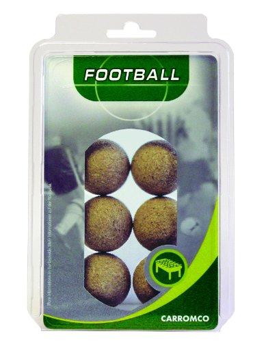 Carromco - 62206 - Lot de 6 Balles de Baby-Foot Coloris Naturel