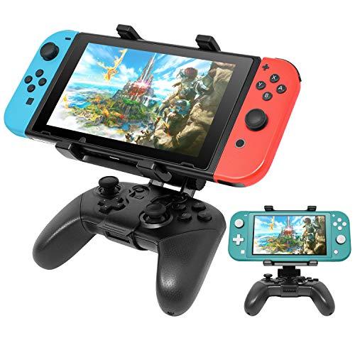 Pro Controller Halterung für Nintendo Switch/Switch Lite Konsole, Verstellbare Controller-Cliphalterung