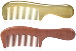 XIAO Comb, A Comb Made By Hand-polished With Horn Material Of Cattle, Is A Very Healthy Material And Can Be Presented As A Gift (available In Nine Combinations) Happy day (Style : Style6)