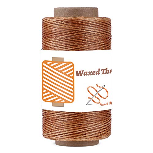 Qmnnma Waxed Thread 250m/273Yard, Leather Sewing Waxed Thread Cord, 150D Waxed Book Binding Thread, Waxed Coated Thread for Beginners Leather Craft DIY Bags Wallets, Shoe Repairing, Jewelry Making