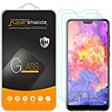 (3 Pack) Supershieldz for Huawei (P20 Pro) Tempered Glass Screen Protector, Anti Scratch, Bubble Free