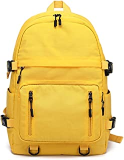 New Large Capacity Solid Color School Bag, Light Breathable Comfortable Teen Student Schoolbag, Boys and Girls Waterproof Nylon Backpack with Charging Port