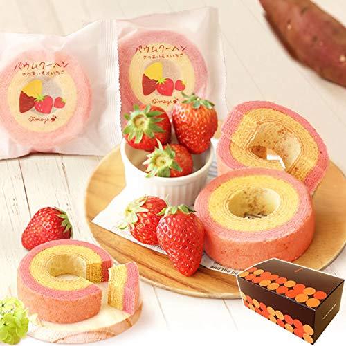 誕生日プレゼント おいもや洋菓子 ギフトセット 夏ギフト 暑中見舞い お祝いギフト お芋 イチゴ ミニ バウムクーヘン 5個入り ギフト対応