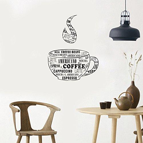 JieGorge Eid Ramadan, decoración del hogar, granos de café extraíble, vinilo, decoración para el hogar, habitación, decoración de pared, color negro