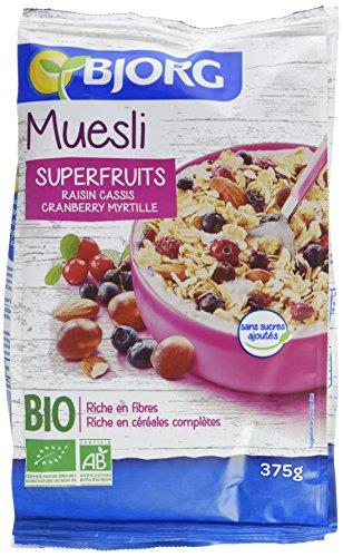 Bjorg Muesli Superfruits Bio - Sans sucres ajoutés - 375 g