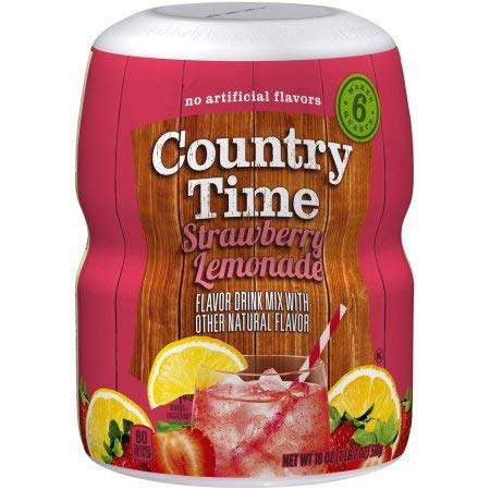 Country Time Drink Mix, Strawberry Lemonade (Pack of 4)