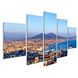 bilderfelix® Bild auf Leinwand Neapel (Neapel) und Vesuv