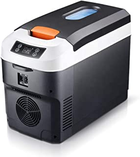 Portable Fridge 10 Liter, Small Car Refrigerator, AC/DC Powered Cooler Warmer, Can Hold 13-16 Bottles of 330Ml Cans, Digit...