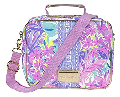 Lilly Pulitzer Thermal Insulated Lunch Box for Women, Cooler Bag with Adjustable/Removable Shoulder Strap, It Was All A Dream