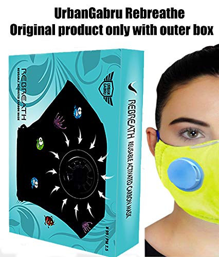 Urbangabru N99 Anti Pollution Mask with 4 layer protective filters PM 2.5 system