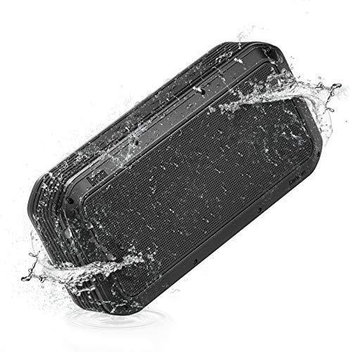 Divoom Voombox-Pro Bluetooth Lautsprecher, 40W Wasserdichter Lautsprecher mit 18 Stunden Spielzeit, TWS, Deep Bass, Powerbank, Geeignet für Party und Outdoor (Schwarz)