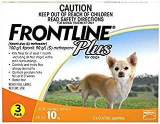 Frontline Plus Flea Treatment Pipettes for Dog 6 Pieces, 6 Count, Orange