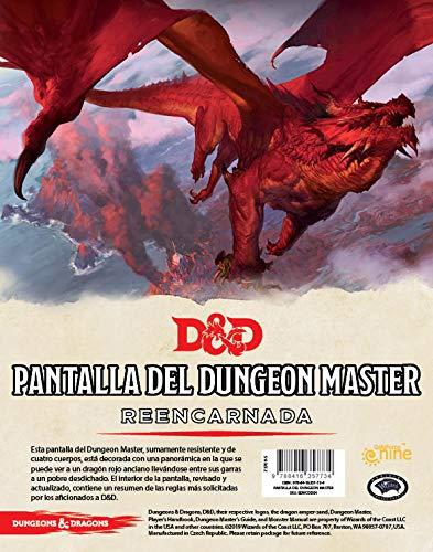 Dungeons & Dragons- Pantalla del Dungeon Master Reencarnada - Español, Color (Edge Entertainment EEWCDD04)