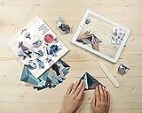 Clairefontaine 95368C - Un Kit origami de 60 feuilles 70g 10x10cm - 15x15cm - 20x20cm - Animaux (4 modèles x 5 designs) avec motifs déjà placés pour faciliter le pliage