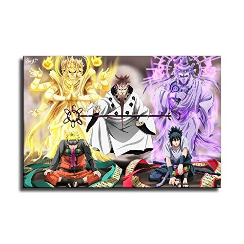 Póster de Naruto Sasuke Naruto en lienzo con diseño de Naruto