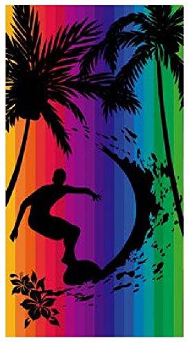 Toalla playa 100% algodon egipcio (surfero multicolor) (160 x 180 CM)