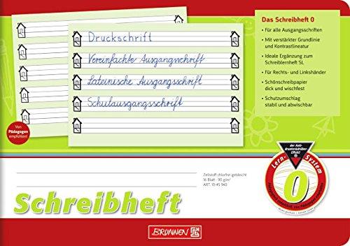Schreibheft/Schulheft LINEATUR 0 (Din A5-16 Blatt/quer) SCHÖNSCHREIBPAPIER