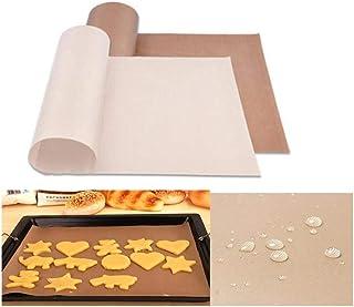 Tapis de cuisson Feuille de téflon résistant aux hautes températures Pâtisserie Cuisson Papier huilé Tampon résistant à la...