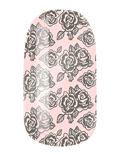 VENGANAILS nagelfolie - Roses for Lily, High Performance Nail Wraps, zelfklevend, duurzaam, geen import uit China