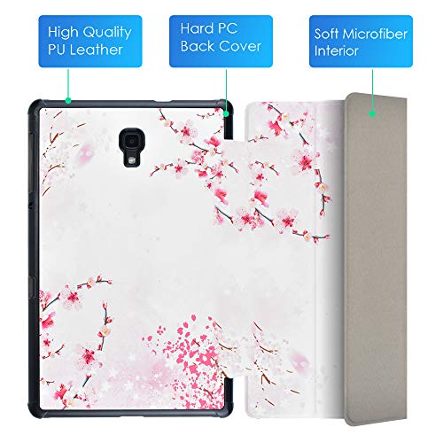 Samsung Galaxy Tab A 10.5'' Hülle Case - Ultra Slim Leder Tasche Hülle Skin für Samsung Galaxy Tab A (2018) SM-T590N/T595N (10,5 Zoll) Schutzhülle Smart Case Cover mit Standfunktion (Pfirsichblüte)