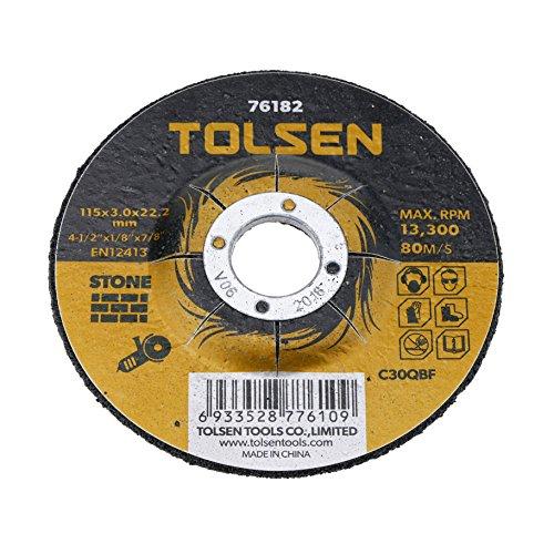 Tolsen PN18081610040174354 Disco de cortar de amoladora para piedra, 115 x 3 x 22.2 mm