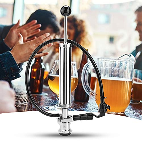 Beer Keg Tap, 8 pulgadas de barril Beer Picnic Tap Party Bomba de acero inoxidable Heavy-Duty D-System Beer Keg Tap Set Homebrew para fiestas de barriles