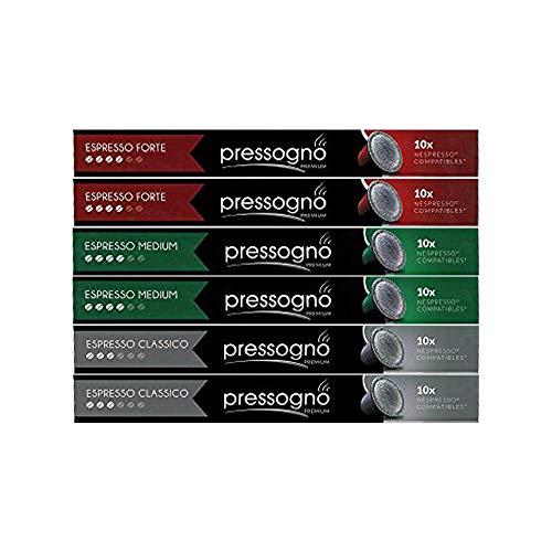 PRESSOGNO 60 Pack NESPRESSO Compatible...