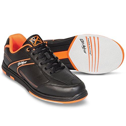 KR Strikeforce M-034-105 Flyer Bowling Shoes, Black/Orange, Size 10.5