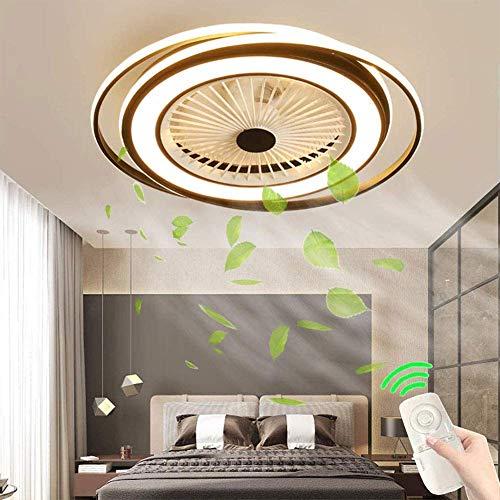 WEM Ventilador de techo LED con iluminación Control remoto, Ventilador de techo silencioso Luz de techo LED, Dormitorio Sala de estar Iluminación de guardería Estudio decorativo Iluminación de atenua