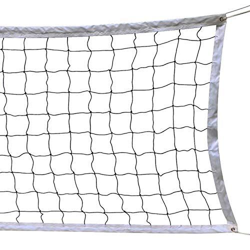 SIVENKE Rete per pallavolo pieghevole per pallavolo Dimensioni ufficiali Standard Indoor Outdoor Garden Beach Volley Sport Net Con Borsa per il Trasporto 9,5 M X 1 M