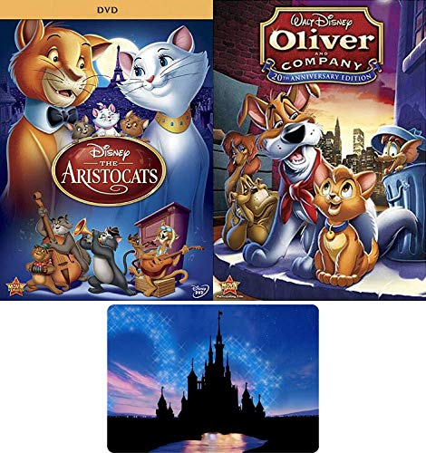 The Aristocats / Oliver and Company: Disney Family Musical Movie DVD Collection with Bonus Art Card