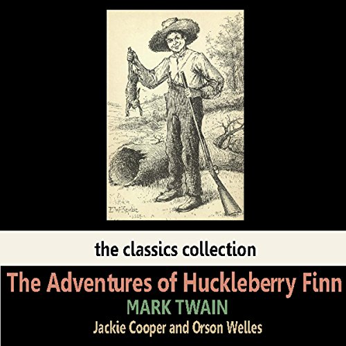 The Adventures of Huckleberry Finn audiobook cover art