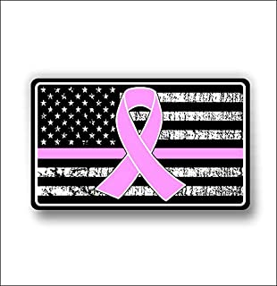 Cancer support american flag sticker / decal **Free Shipping**