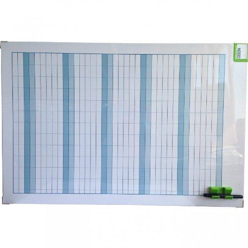 ACCO NOBO Performance Jahresplaner, 60x90 cm, Alurahmen, Monatsplaner Urlaubsplaner Whiteboard