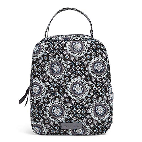 Vera Bradley Women's Signature Cotton Lunch Bunch Lunch Bag, Charcoal Medallion, One Size