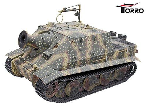 TORRO 3819-I - Sturmtiger Panzer mit Metallunterwanne IR, hinterhalt tarnlackierung