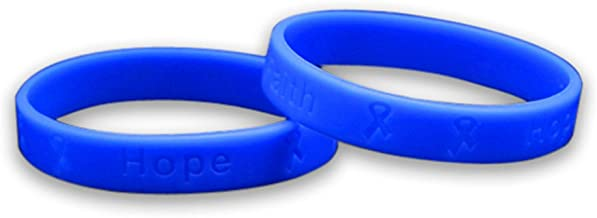 Fundraising For A Cause 50 Pack Stomach Cancer Awareness Silicone Bracelets - Adult Size (Wholesale Pack - 50 Bracelets)