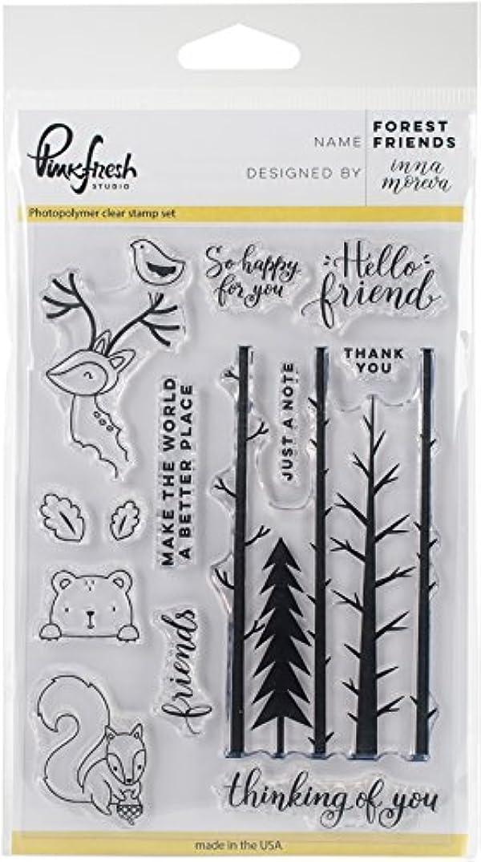 Pinkfresh Studio Forest Friends Clear Stamp Set, 4