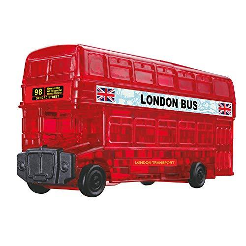 HCM Kinzel 59156 Crystal Puzzle London Bus, 53 Teile, bunt