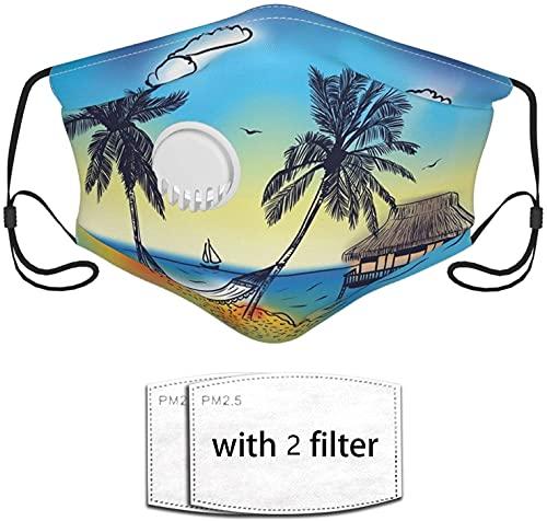 YRUI Paradise Island con bungalow Palmera reutilizar la máscara filtro de seguridad puede evitar que el polvo contamine la caspa de mascotas