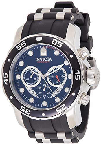 Invicta Men's 'Pro Diver' Quartz Stainless Steel and Silicone Watch, Color:Black (Model: 21927)