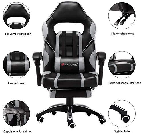 JL Comfurni Gaming Stuhl Bürostuhl Bild 4*