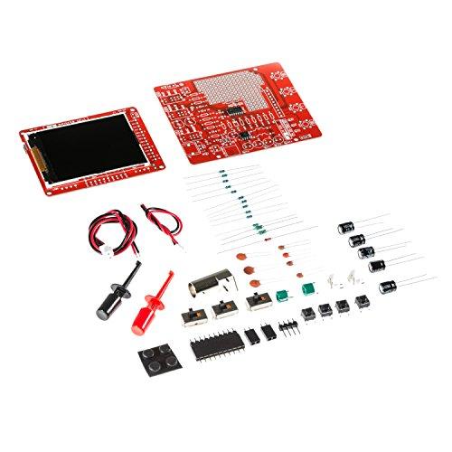 NooElec JYETech 'DSO 138 Mini' Kit de Osciloscopio para Bricolaje con Sonda de Clip Osciloscopio Digital Portátil con Pantalla LCD TFT de 2.4